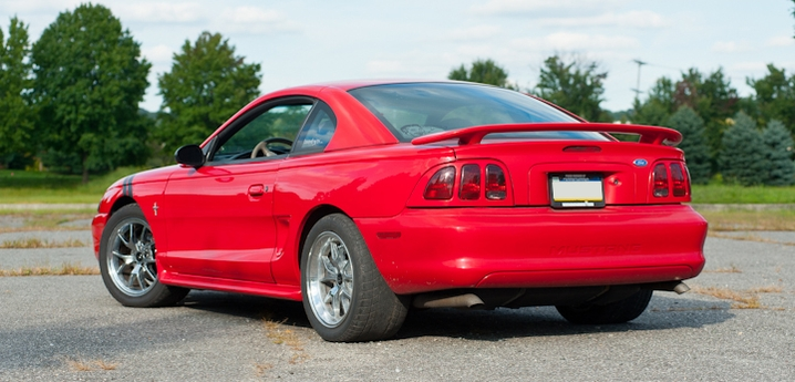 Brian S Rio Red 97 Mustang V6 Americanmuscle