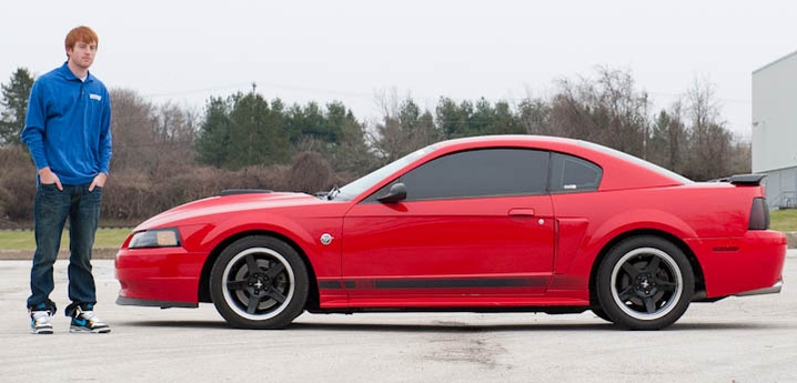 Dan Bs Torch Red 03 Mach 1 Mustang  AmericanMuscle