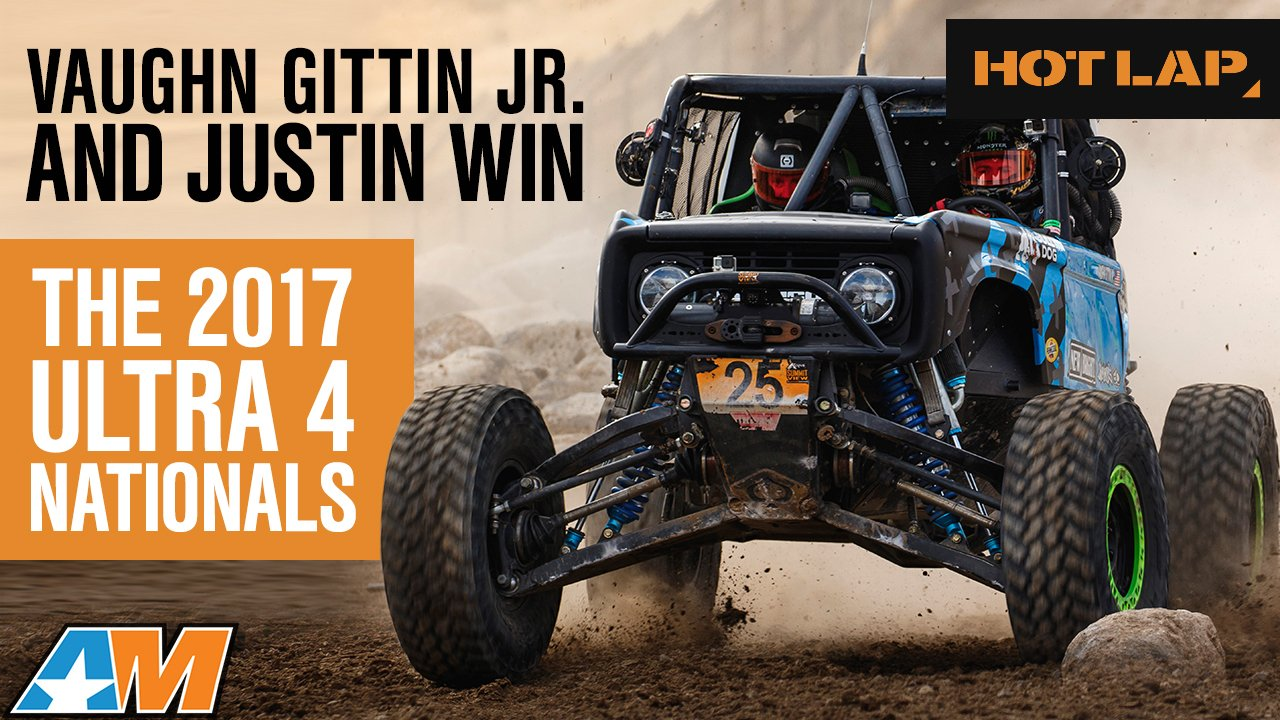 Justin and Vaughn Gittin JR with Ultra4 Nationals