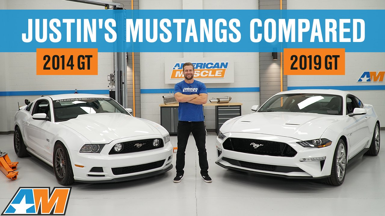 Justin Compares His 2019 Mustang GT to his 2014 Supercharged S197 Mustang GT