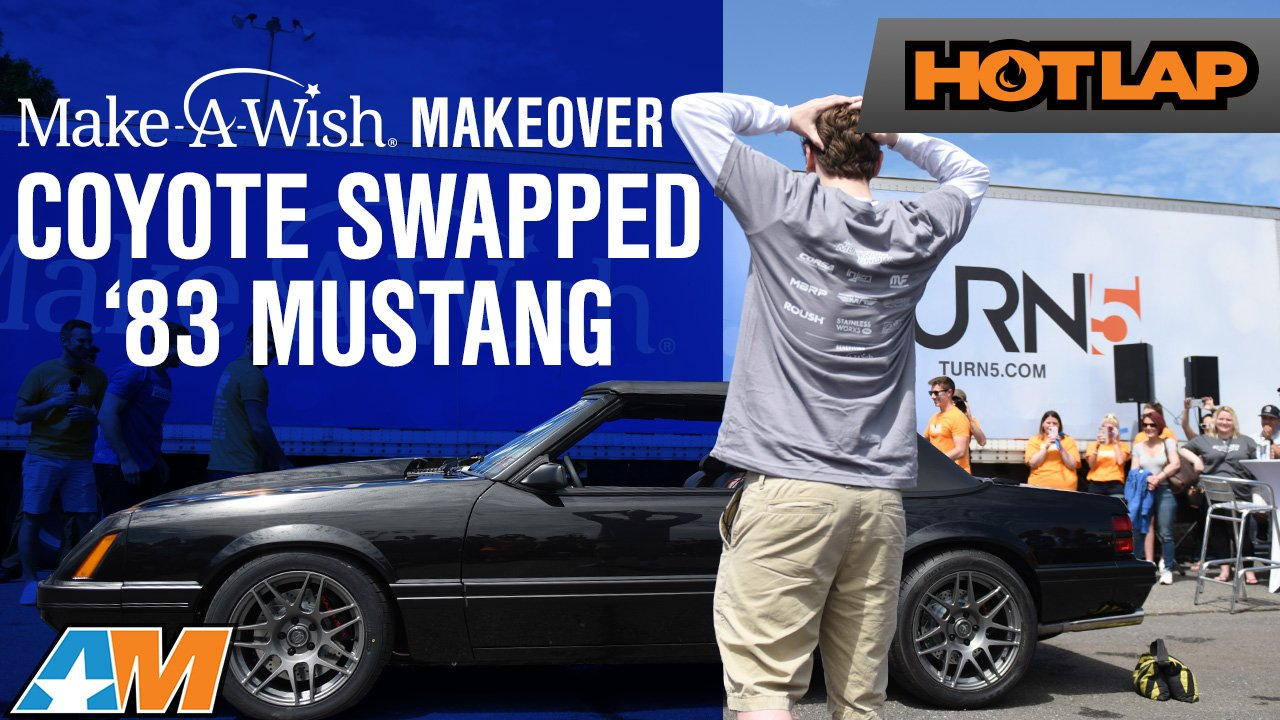 1983 Foxbody Mustang Gets Coyote Swapped and Restored For Make A Wish - Hot Lap