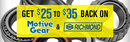 Motive Gear & Richmond Gear Rebate